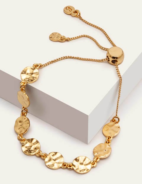 Mini Disk Bracelet - Gold Metallic