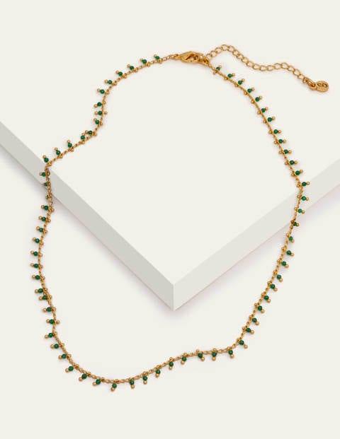 Halskette mit  kleinen Perlen