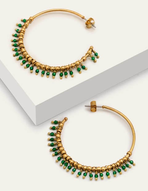 Mini Beaded Hoop Earrings - Wild Meadow