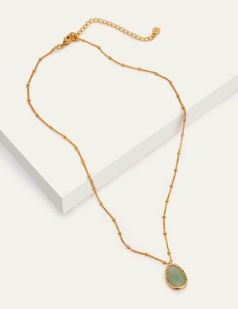 Halskette mit Halbedelstein-Anhänger