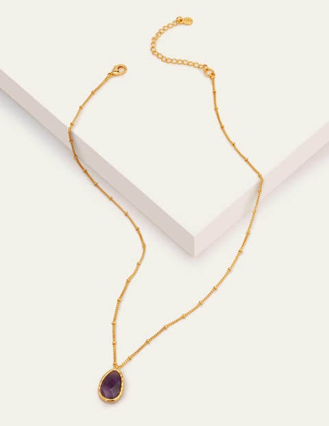 Semi Precious Stone Pendant - Amethyst
