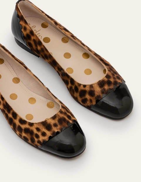Bella Ballerinas - Tan Leopard/Black