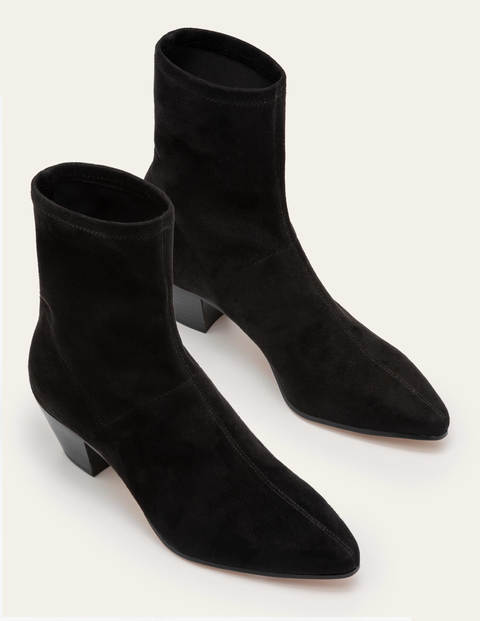 Western Stretch Boots - Black