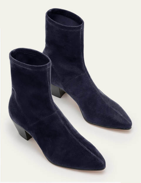 Western Stretch Boots - Navy
