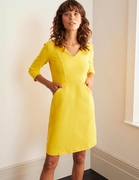 Bronte Ottoman Dress - Maize