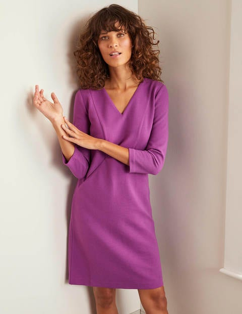 Bronte Ottoman Dress - Jewel Purple