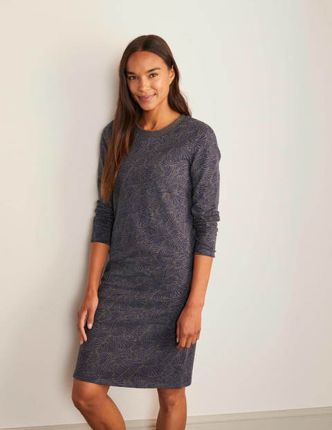Robe-sweat - Anthracite chiné, vague ondulante