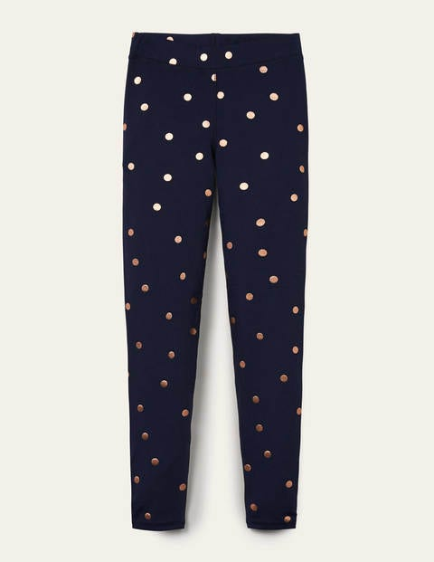 Lieblingsleggings - Navy and Gold, Polka Dot