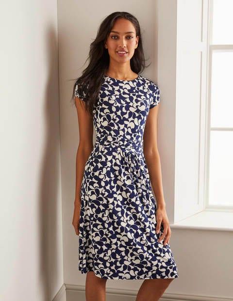 Amelie Jersey Dress - Navy, Bazaar
