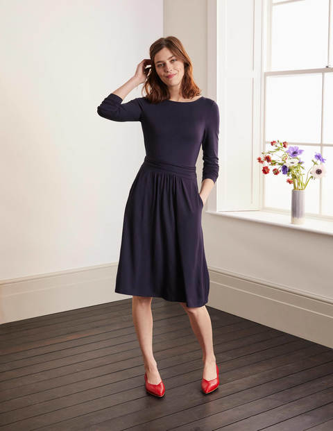 Abigail Jersey Dress - Navy