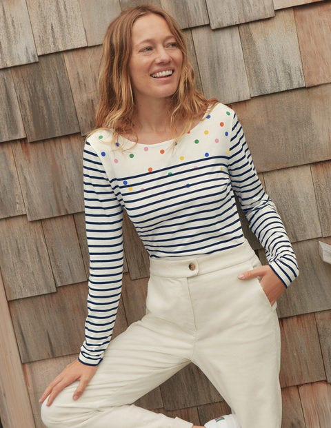 Long Sleeve Breton - Stripe/Multi Spot