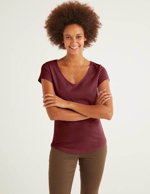 Supersoft Cap Sleeve Tee - Maroon