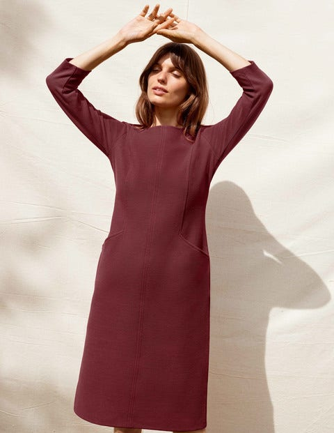 Ellen Ottoman Dress - Maroon