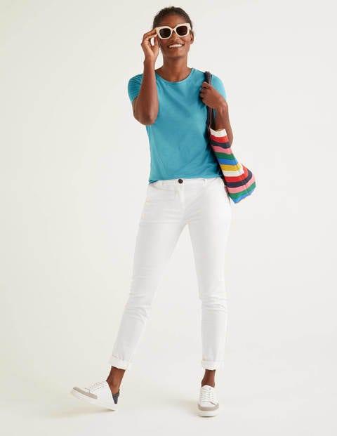 boden - Superweiches kurzärmliges T-Shirt Blue Damen , Blue