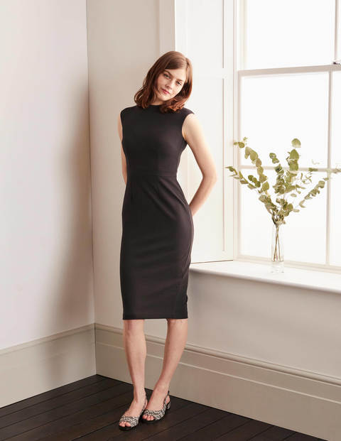 Anna Ottoman Dress - Black