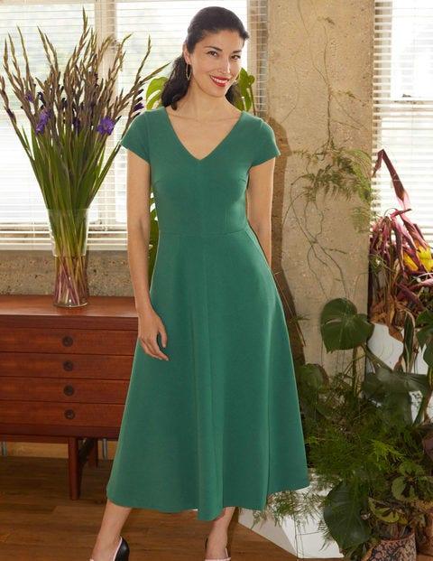 Belle V-neck Ottoman Dress - Sage Green
