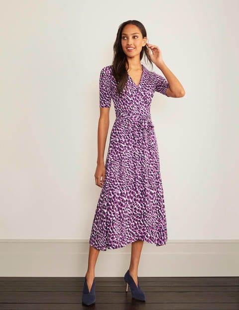 boden - Lavinia Wickelkeid aus Jersey Purple Damen , Purple