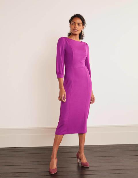 Colette Ponte Dress - Jewel Purple