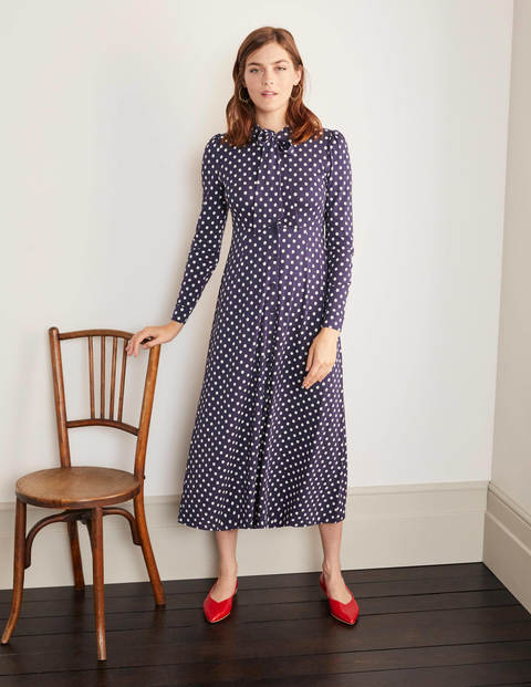 Mirabelle Shirt Dress - Navy, Regular Dot