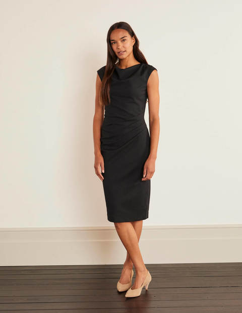 Natalie Ponte Dress - Black