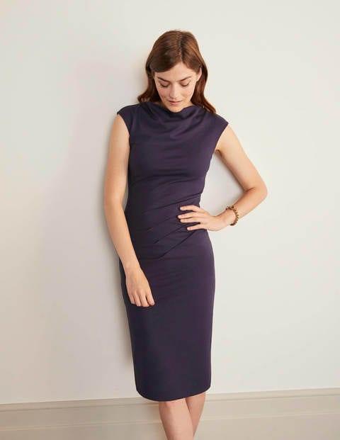 Natalie Ponte Dress - Navy