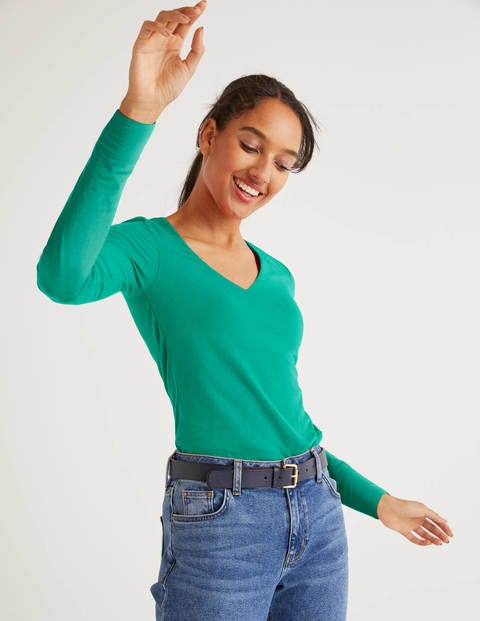 Double Layer V-neck Top - Wild Meadow