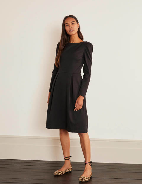 Robe Melanie en point de Rome - Noir