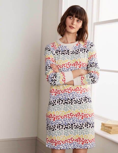 Ava Sweatshirt Dress - Rainbow Leopard