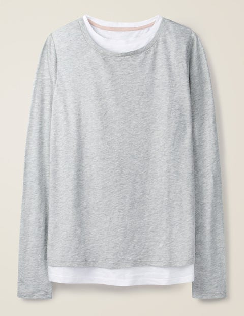 Ruth Double Layer Top - Grey Marl