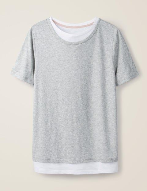 Sarah Double Layer Top - Grey Marl