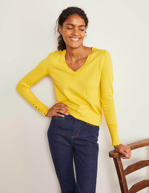 Eldon V-neck Sweater - Maize