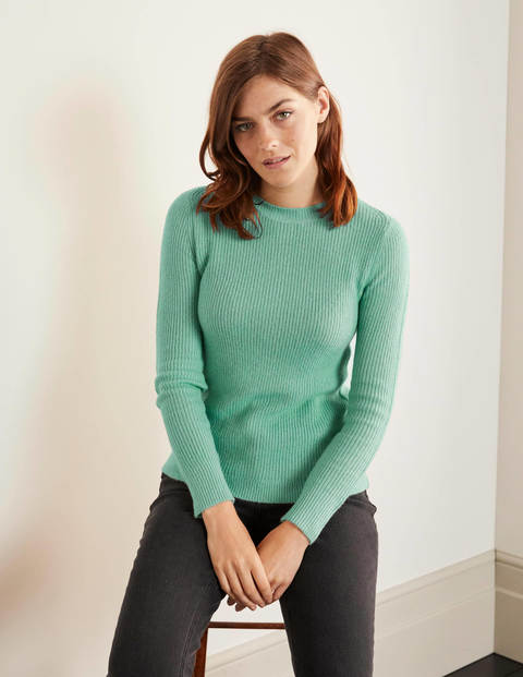 Rosslyn Fluffy Jumper - Icicle Green