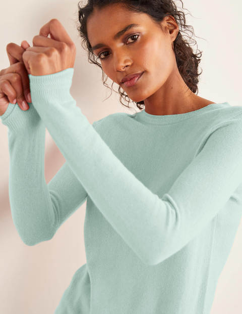 Cashmere Crew Neck Sweater - Mint Cake