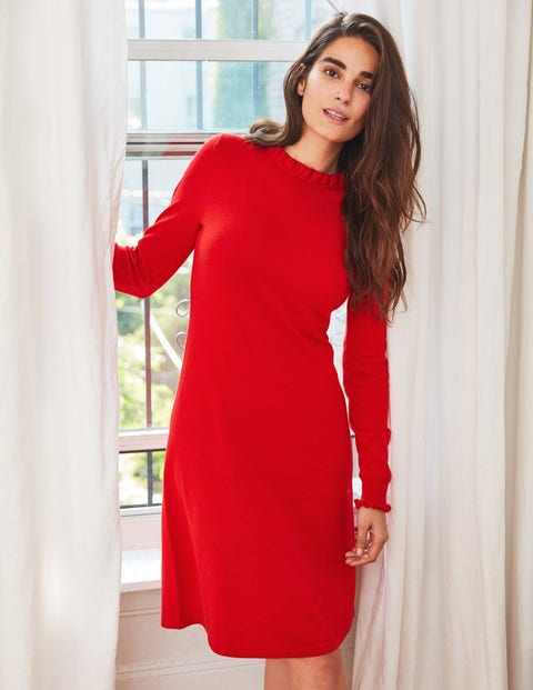 Lara Knitted Dress - Red