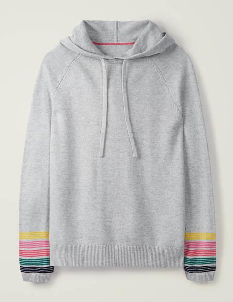 Morton Knitted Hoodie - Grey Melange