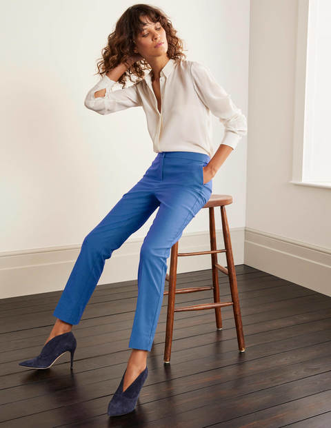 Blue Richmond 7/8 Cropped Trousers