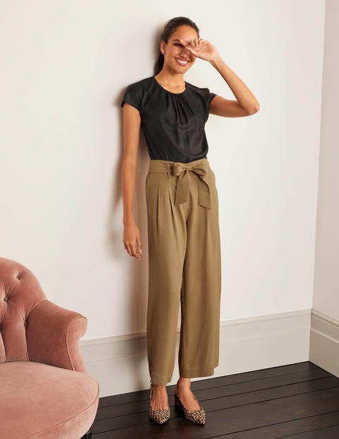 Melville Tie Waist Culottes - Camel