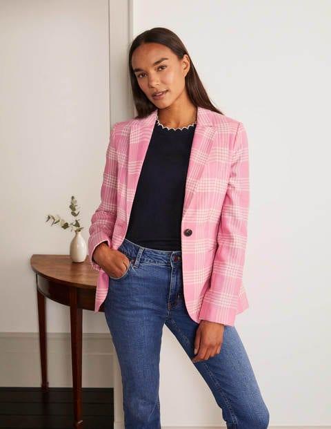boden - Atkins Blazer aus britischem Tweed Pink Damen , Pink