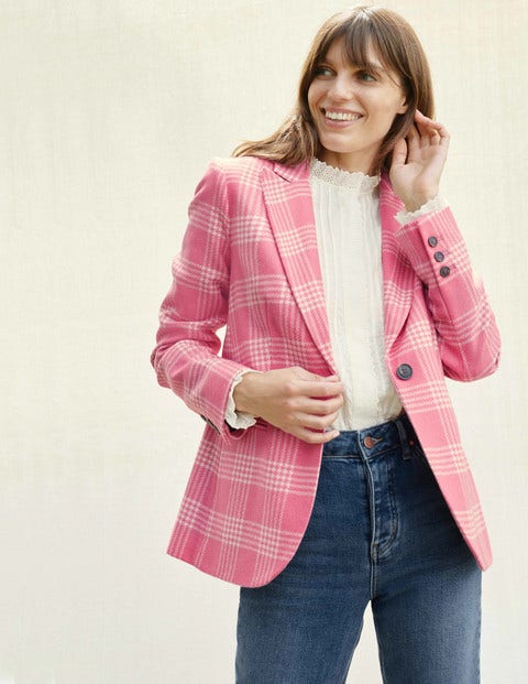 Atkins British Tweed Blazer - Pink Check
