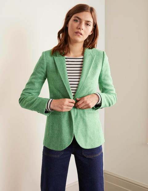 Atkins British Tweed Blazer - Green Herringbone