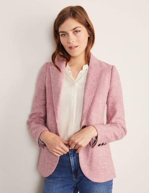 Atkins British Tweed Blazer - Pink Herringbone