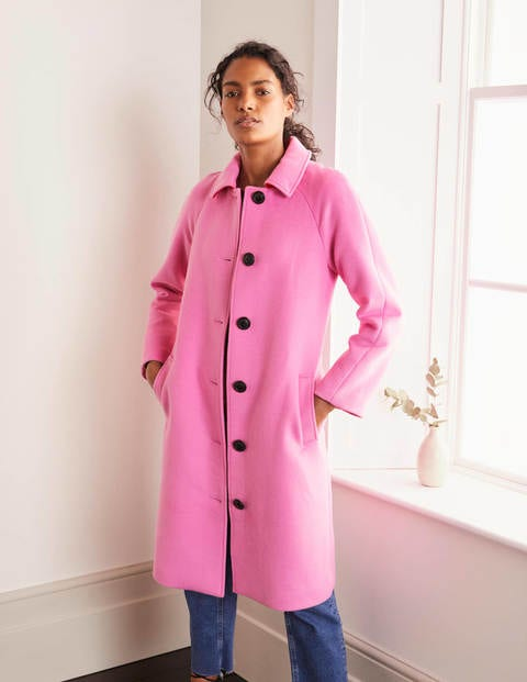 1950s Jackets, Coats, Bolero | Swing, Pin Up, Rockabilly Billington Coat Pink Women Boden Pink £161.00 AT vintagedancer.com