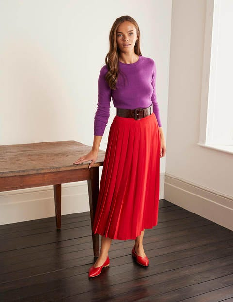 Musgrove Pleated Skirt - RED