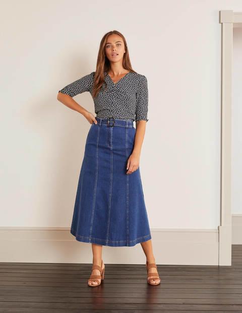 Everdene Midi Skirt - Mid Vintage