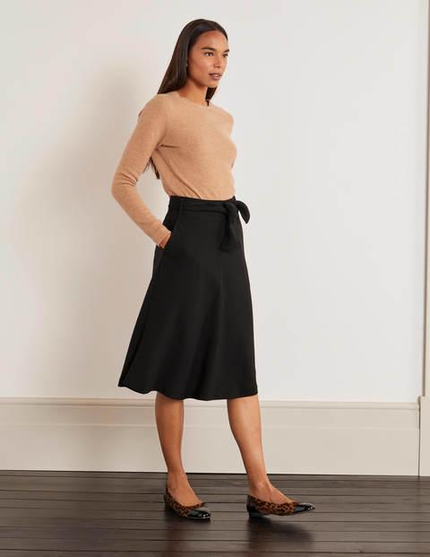 Morland Belted Skirt - Black