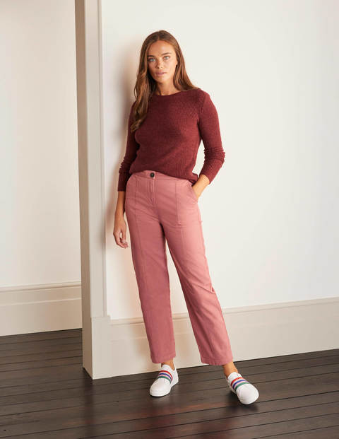 Rothes Seam Detail Trousers - Dusty Rose