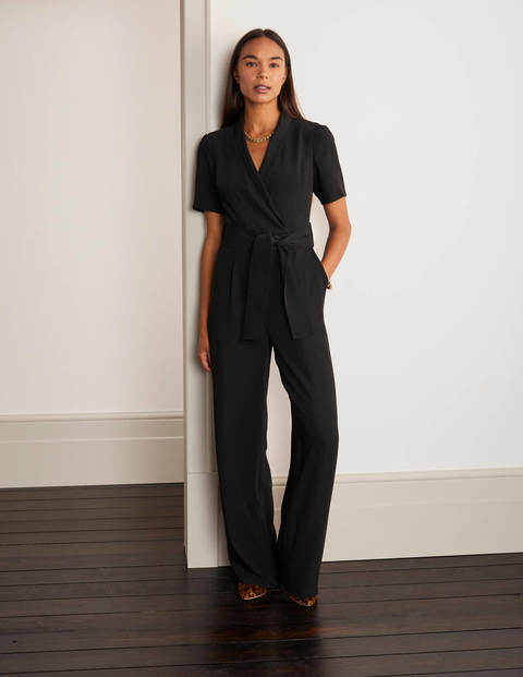 Ottoline Wrap Jumpsuit - Black