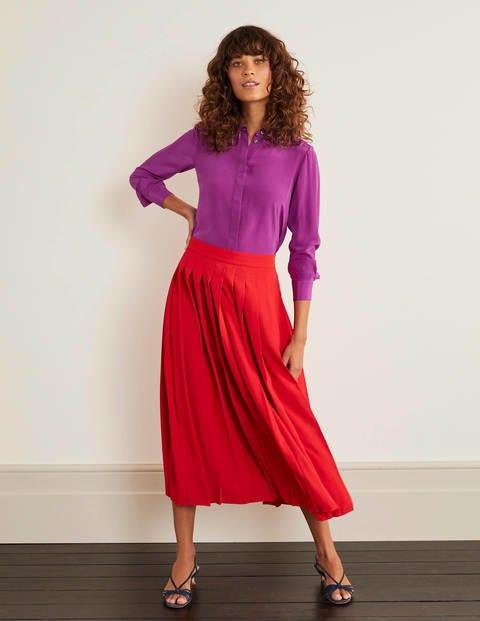 The Silk Shirt - Jewel Purple