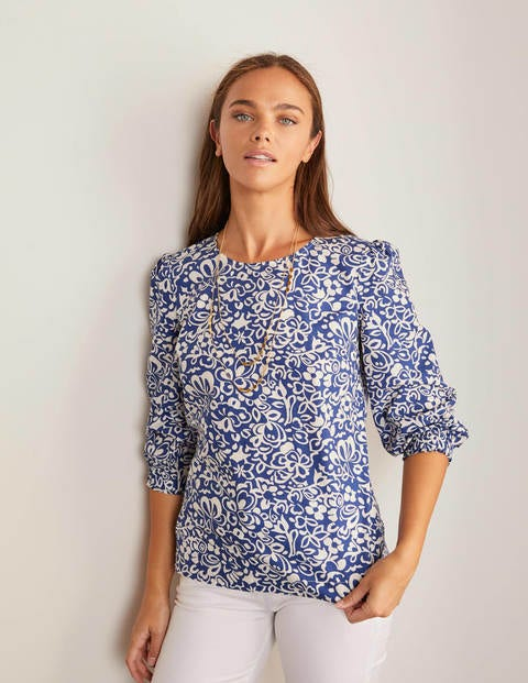Joanna Top - Blue Depths, Decorative Bloom