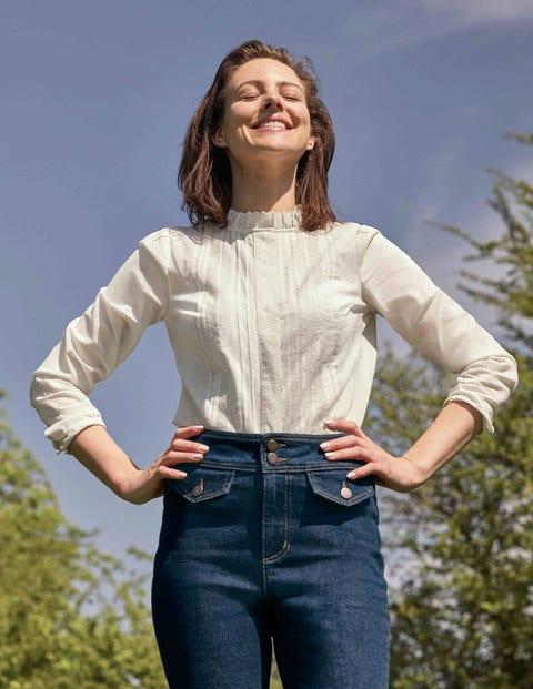 Romy Broderie Shirt - Ivory